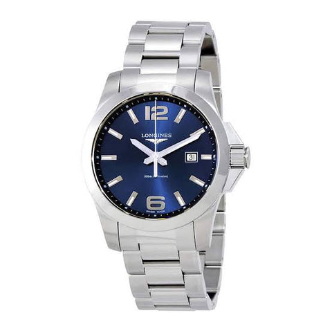 Longines Conquest Blue Dial Stainless Steel 43 mm Men's Watch L3.760.4.96.6
