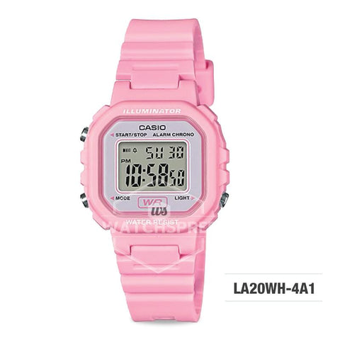 Casio Ladies' Standard Digital Pink Resin Band Watch LA20WH-4A1 LA-20WH-4A1