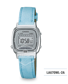 Casio Standard Digital Ladies' Blue Strap Watch LA670WL-2A