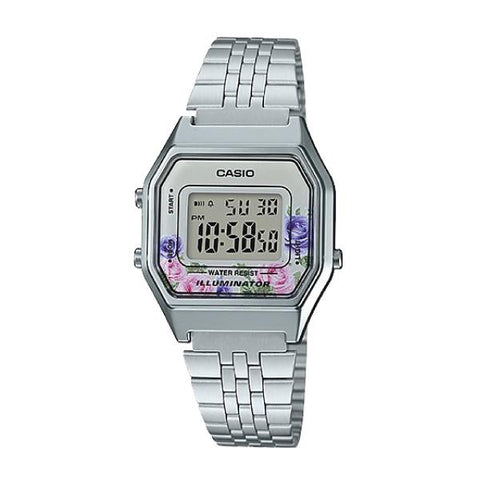 Casio Standard Digital Silver Stainless Steel Watch LA680WA-4C LA-680WA-4C
