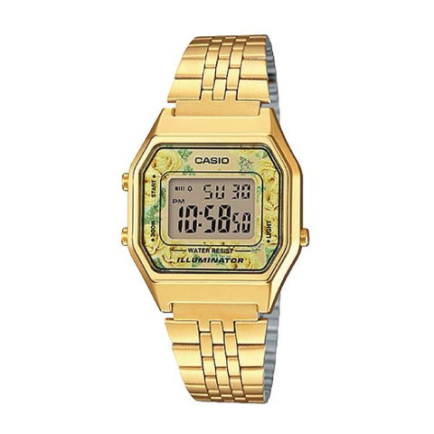 Casio Standard Digital Gold Tone Stainless Steel Watch LA680WGA-9C LA-680WGA-9C