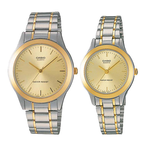 Casio Couple Stainless Steel Watch LTP1128G-9A MTP1128G-9A