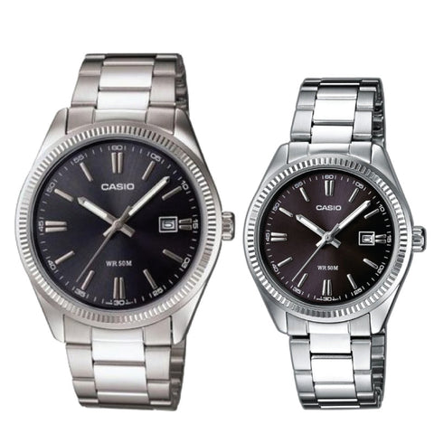 Casio Couple Watch MTP1302D-1A1 LTP1302D-1A1