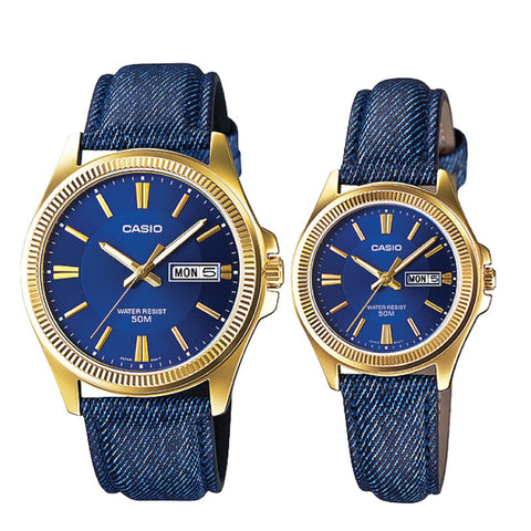 Casio Couple Watch MTPE111GBL-2A LTPE111GBL-2A