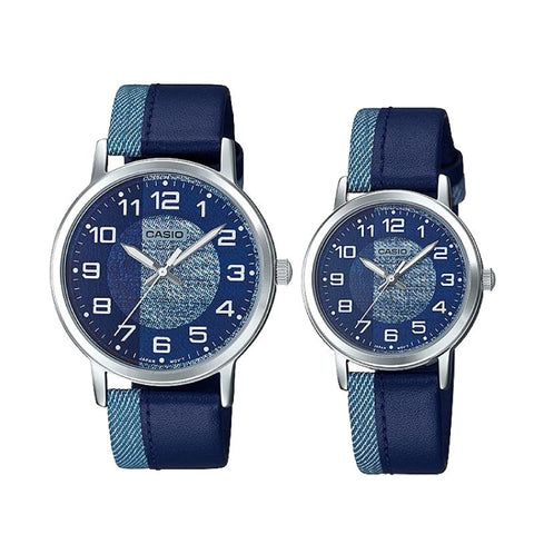 Casio Couple Leather Watch LTPE159L-2B1 MTPE159L-2B1