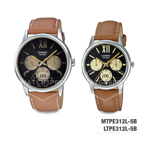 Casio Couple Leather Watch LTPE312L-5B MTPE312L-5B