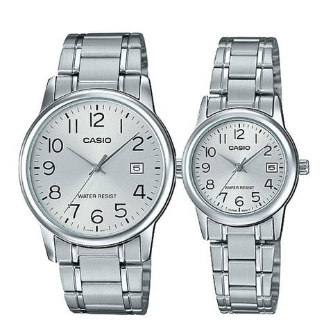 Casio Couple Stainless Steel Watch LTPV002D-7B MTPV002D-7B