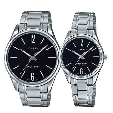 Casio Couple Stainless Steel Watch LTPV005D-1B MTPV005D-1B