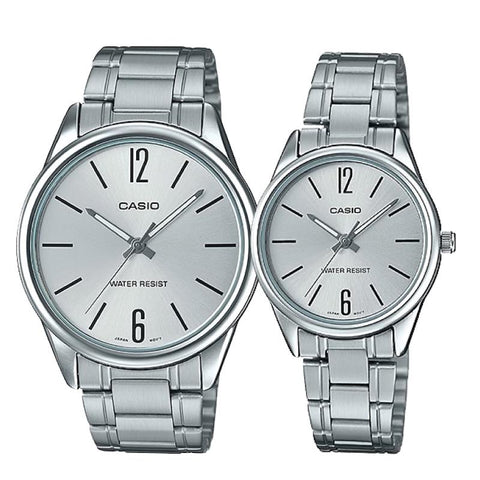 Casio Couple Stainless Steel Watch LTPV005D-7B MTPV005D-7B