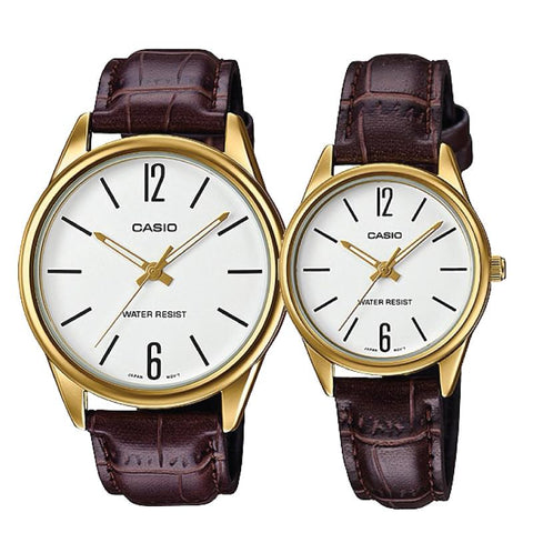 Casio Couple Leather Watch LTPV005GL-7B MTPV005GL-7B