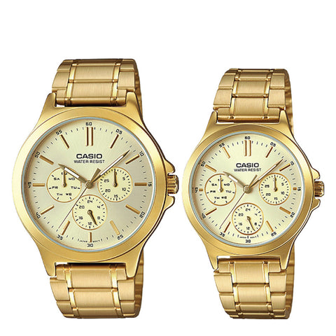 Casio Couple Watch MTPV300G-9A LTPV300G-9A