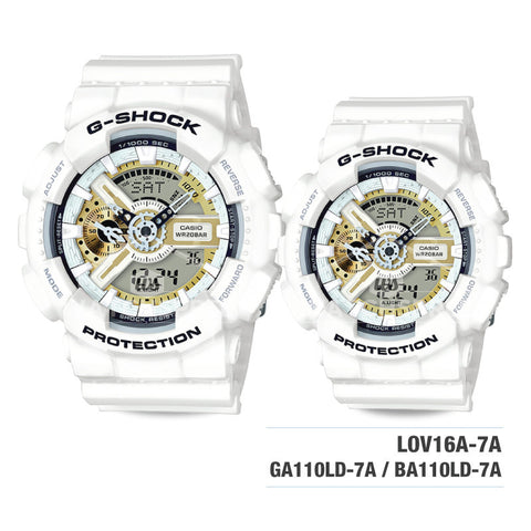 Casio G-Shock & Baby-G G Presents Lover's collection 2016 20th Anniversary Watch LOV16A-7A
