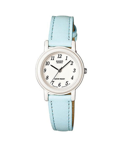 Casio Ladies' Standard Analog Blue Leather Strap Watch LQ139L-2B LQ-139L-2B