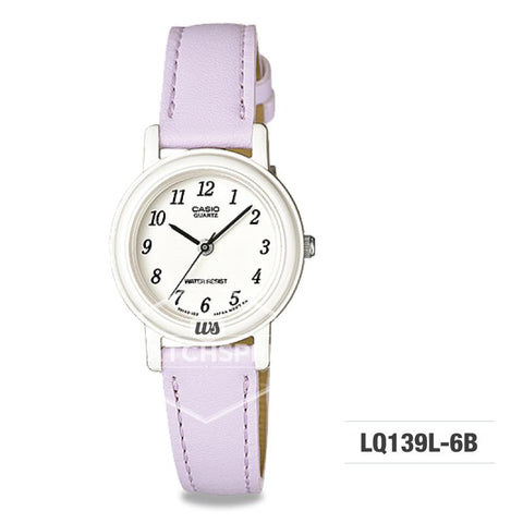 Casio Ladies' Standard Analog Purple Leather Strap Watch LQ139L-6B LQ-139L-6B