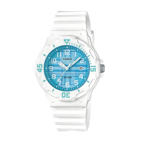 Casio Ladies' Diver Look Standard Analog White Resin Band Watch LRW200H-2C LRW-200H-2C