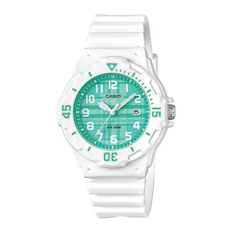 Casio Ladies' Diver Look Standard Analog White Resin Band Watch LRW200H-3C LRW-200H-3C