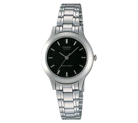 Casio Ladies' Standard Analog Silver Stainless Steel Band Watch LTP1128A-1A LTP-1128A-1A