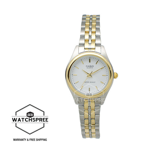 Casio Standard Ladies Two-toned Stainless Steel Band Watch LTP1129G-7A