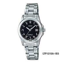 Load image into Gallery viewer, Casio Ladies' Standard Analog Silver Stainless Steel Band Watch LTP1215A-1B3 LTP-1215A-1B3