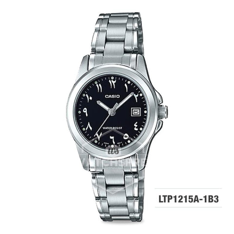 Casio Ladies' Standard Analog Silver Stainless Steel Band Watch LTP1215A-1B3 LTP-1215A-1B3