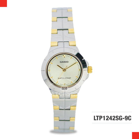 Casio Ladies' Standard Analog Two-Tone Stainless Steel Band Watch LTP1242SG-9C LTP-1242SG-9C