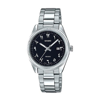 Casio Ladies Standard Analog Silver Stainless Steel Band Watch LTP1302D-1B3 LTP-1302D-1B3