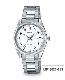 Casio Ladies' Standard Analog Silver Stainless Steel Band Watch LTP1302D-7B3 LTP-1302D-7B3