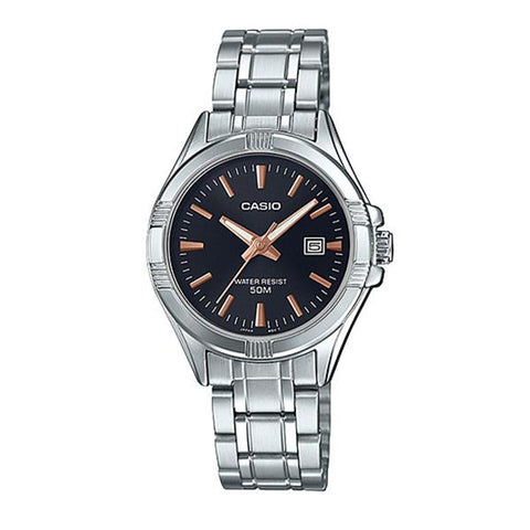 Casio Ladies' Standard Analog Silver Stainless Steel Band Watch LTP1308D-1A2 LTP-1308D-1A2