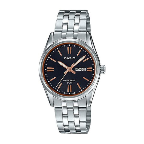 Casio Ladies' Standard Analog Silver Stainless Steel Band Watch LTP1335D-1A2 LTP-1335D-1A2