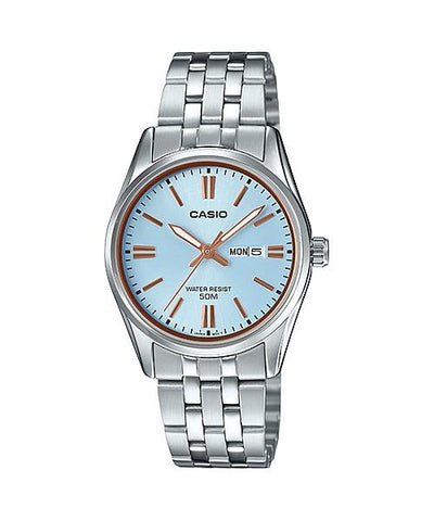 Casio Ladies' Standard Analog Silver Stainless Steel Band Watch LTP1335D-2A LTP-1335D-2A