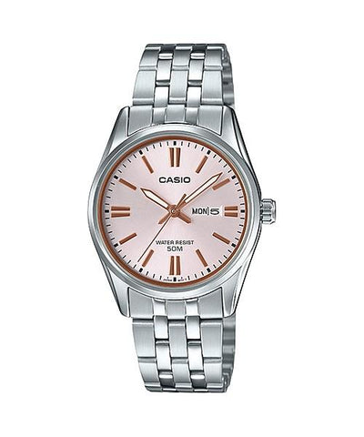 Casio Ladies' Standard Analog Silver Stainless Steel Band Watch LTP1335D-4A LTP-1335D-4A