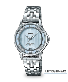 Casio Ladies' Standard Analog Silver Stainless Steel Band Watch LTP1391D-2A2 LTP-1391D-2A2