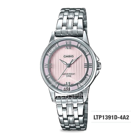 Casio Ladies' Standard Analog Silver Stainless Steel Band Watch LTP1391D-4A2 LTP-1391D-4A2