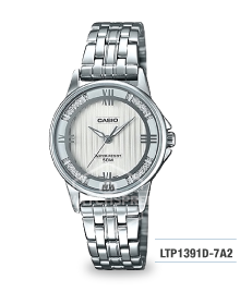 Casio Ladies' Standard Analog Silver Stainless Steel Band Watch LTP1391D-7A2 LTP-1391D-7A2