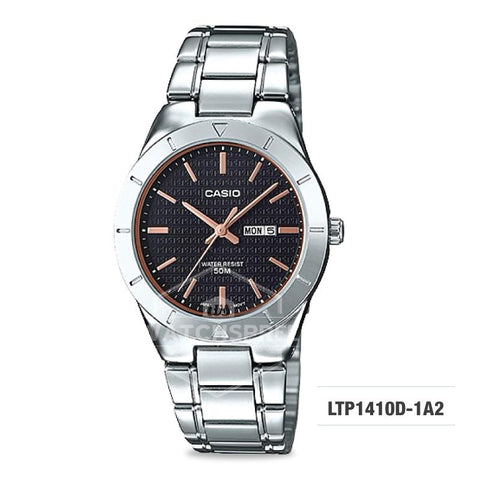 Casio Ladies' Standard Analog Silver Stainless Steel Band Watch LTP1410D-1A2 LTP-1410D-1A2