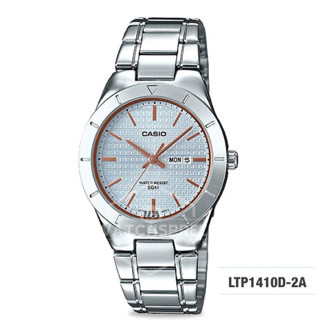 Casio Ladies' Standard Analog Silver Stainless Steel Band Watch LTP1410D-2A LTP-1410D-2A