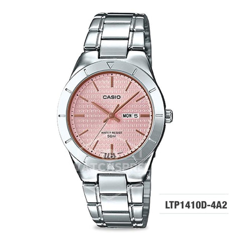 Casio Ladies' Standard Analog Silver Stainless Steel Band Watch LTP1410D-4A2 LTP-1410D-4A2