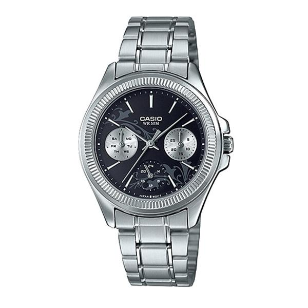 Casio Ladies' Enticer Series Silver Stainless Steel Band Watch LTP2088D-1A2 LTP-2088D-1A2