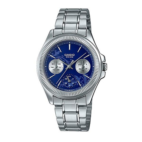 Casio Ladies' Enticer Series Silver Stainless Steel Band Watch LTP2088D-2A1 LTP-2088D-2A1