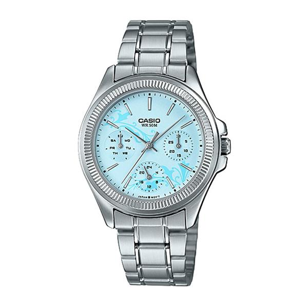 Casio Ladies' Enticer Series Silver Stainless Steel Band Watch LTP2088D-2A2 LTP-2088D-2A2