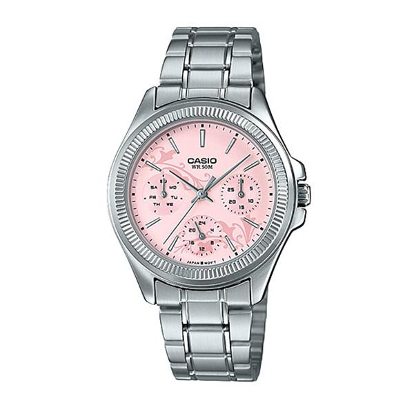 Casio Ladies' Enticer Series Silver Stainless Steel Band Watch LTP2088D-4A LTP-2088D-4A
