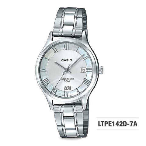 Casio Standard Analog-Ladies Silver Stainless Steel Band Watch LTPE142D-7A