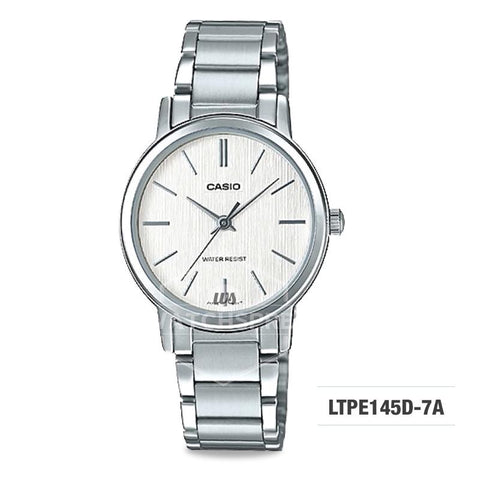 cd3d176c5603 Casio Ladies  Standard Analog Silver Stainless Steel Band Watch LTPE145D-7A  LTP-E145D