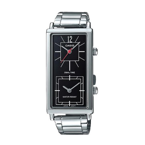 Casio Ladies' Fashion Enticer Series Silver Stainless Steel Watch LTPE151D-1B LTP-E151D-1B