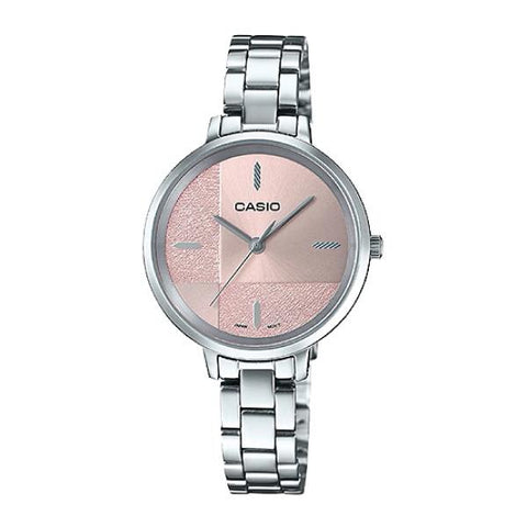 Casio Enticer Ladies' Silver Stainless Steel Band Watch LTPE152D-4E LTP-E152D-4E