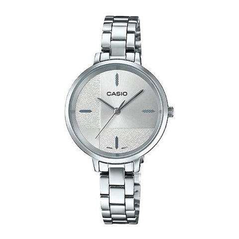 Casio Enticer Ladies' Silver Stainless Steel Band Watch LTPE152D-7E LTP-E152D-7E