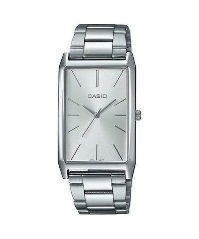 Casio Ladies' Analog Silver Stainless Steel Band Watch LTPE156D-7A LTP-E156D-7A