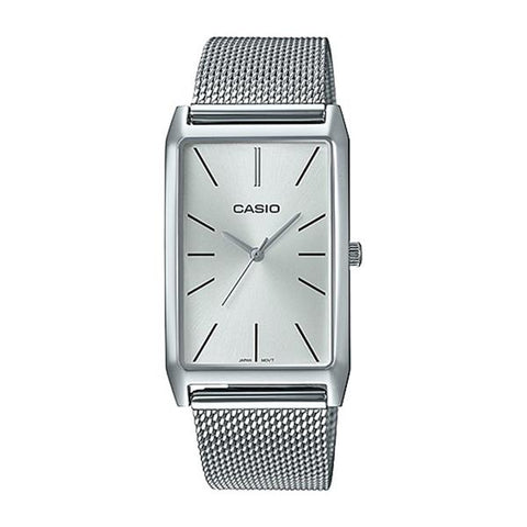 Casio Ladies' Analog Silver Stainless Steel Band Watch LTPE156M-7A LTP-E156M-7A