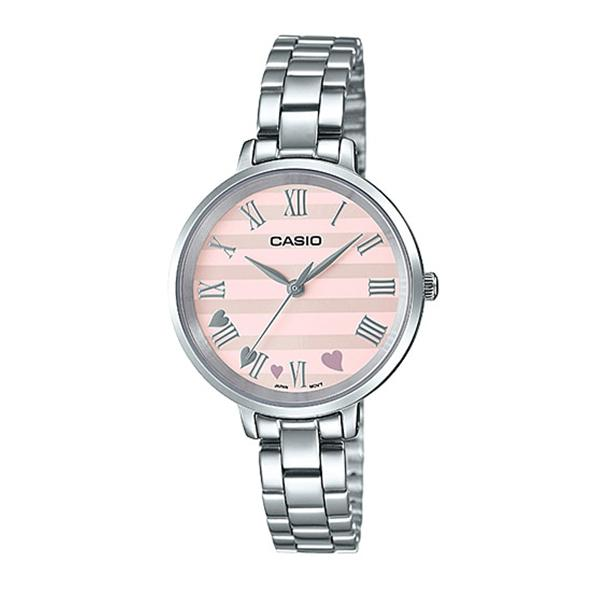 Casio Ladies' Analog Silver Stainless Steel Band Watch LTPE160D-4A LTP-E160D-4A