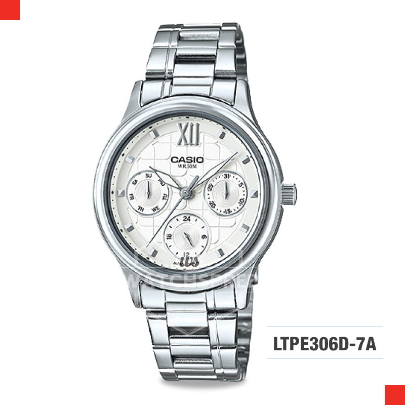 Casio Ladies Watch LTPE306D-7A
